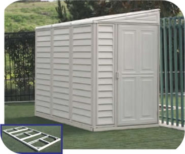 Elegant SideMate 4x8 Vinyl Shed w/ Floor Kit outdoor storage sheds
