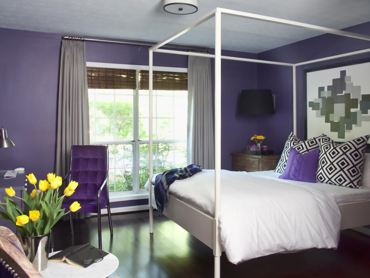Elegant Slate Gray bedroom color combination