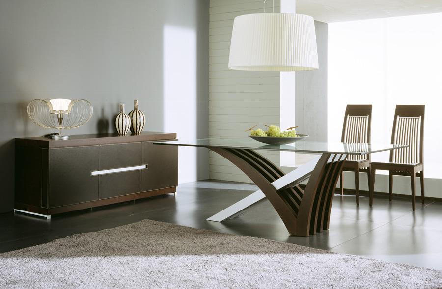 Elegant Solerna dining room set. Sleek design and modern sophistication modern dining room furniture sets