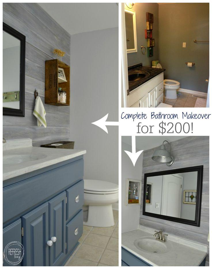 Elegant Vintage Rustic Industrial Bathroom Reveal cheap bathroom remodel