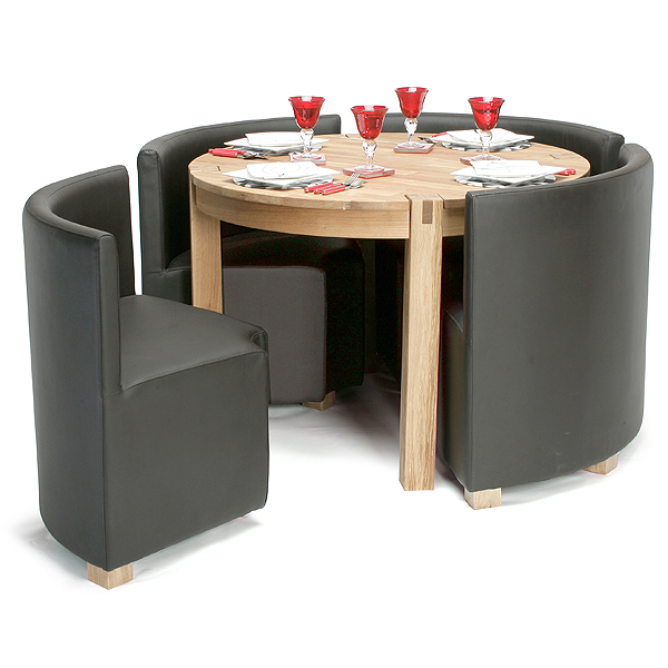 Elegant Viscount Space Saver Set · Space Saving Dining TableDining . space saving dining table and chairs