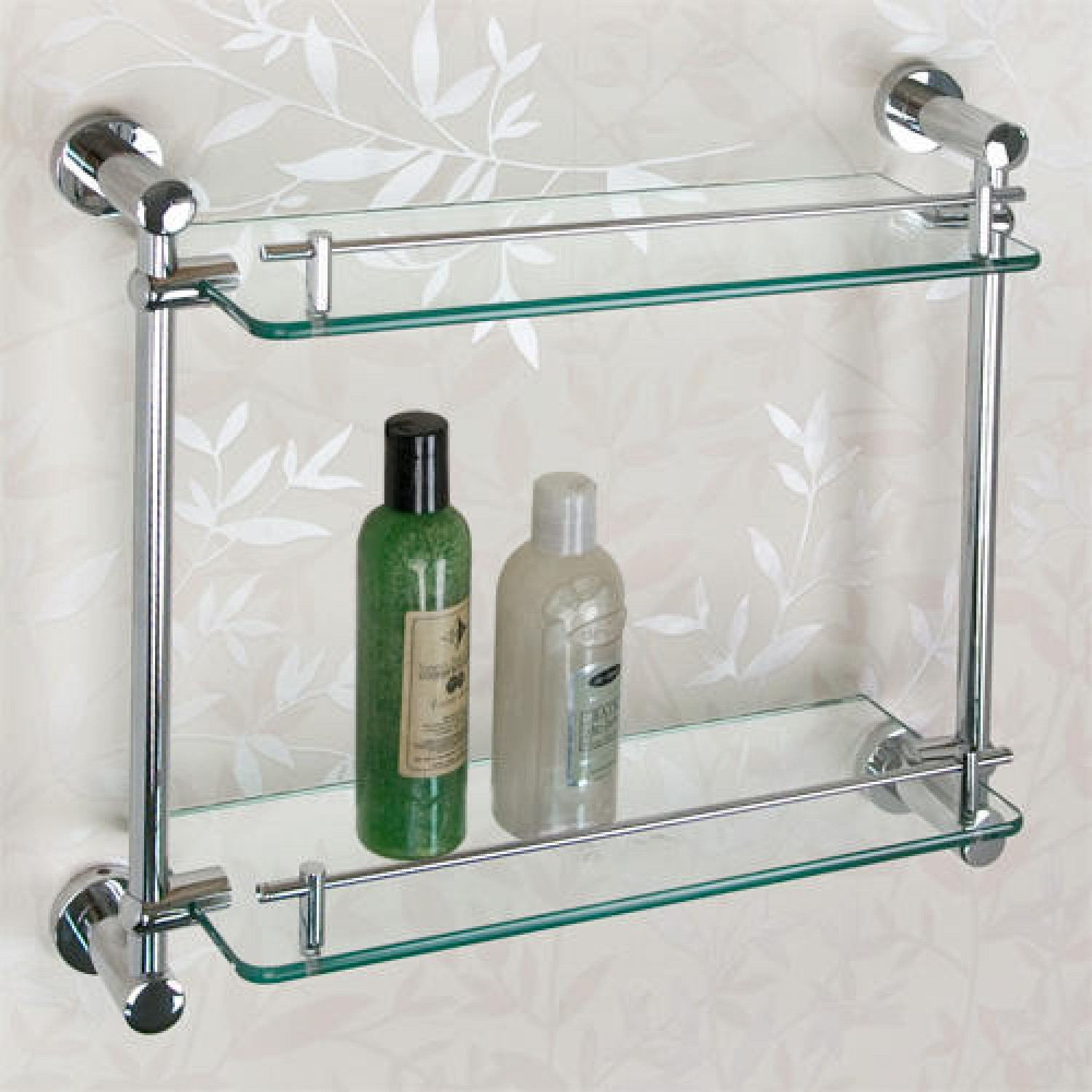 Elegant Zoom glass shelving for bathroom