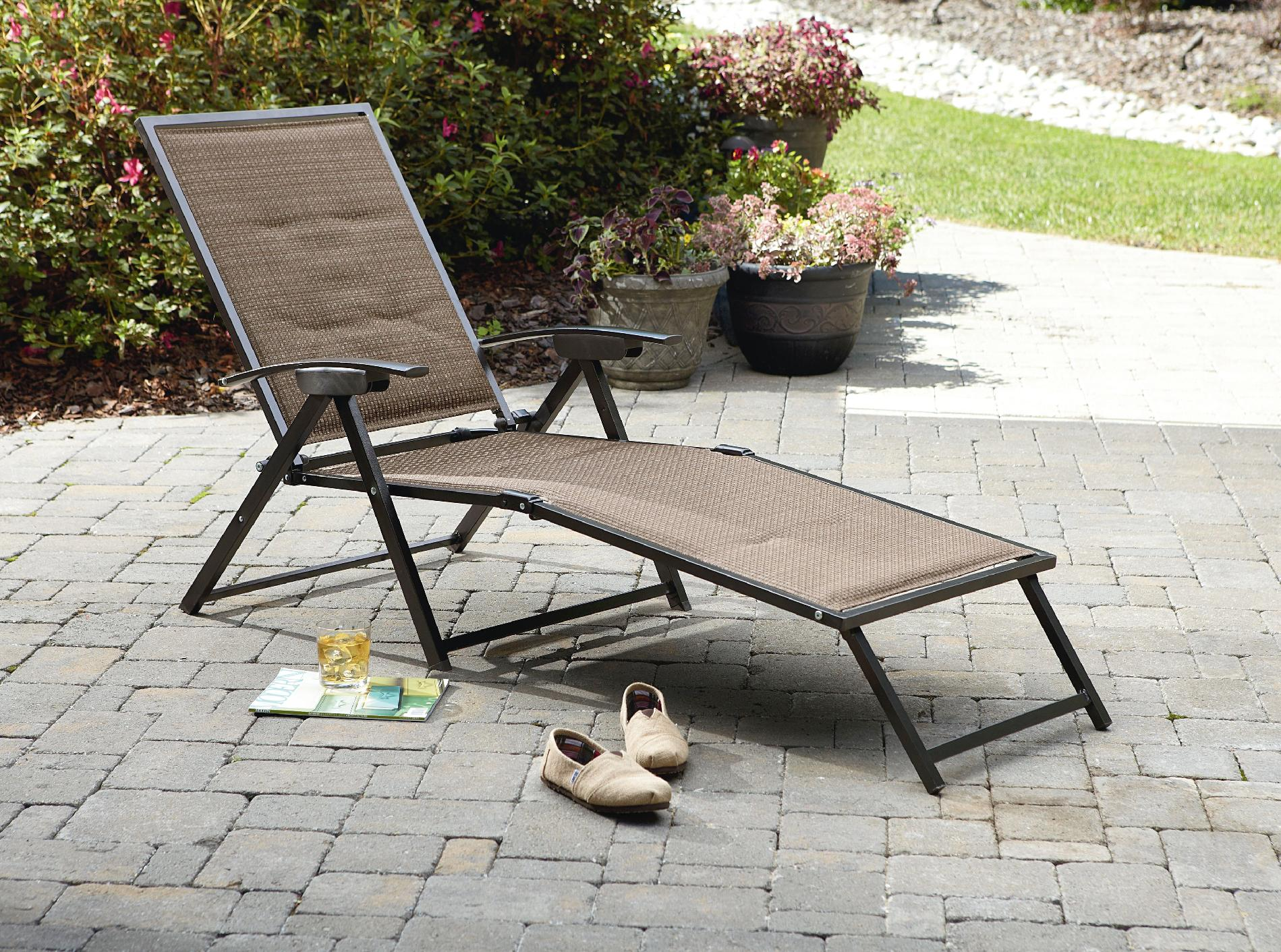 Cute Garden Oasis Harrison Matching Folding Padded Sling Chaise folding patio lounge chairs