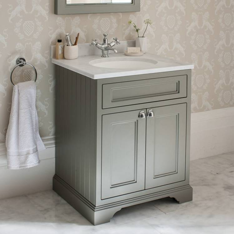 Amazing Burlington Olive 650mm Freestanding Vanity Unit With Minerva Worktop u0026 Basin freestanding vanity unit
