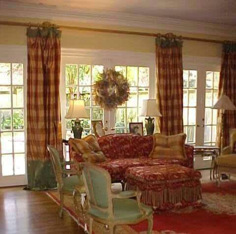 Amazing French Country Design and Decor · French Country Living RoomCountry ... french country curtains for living room