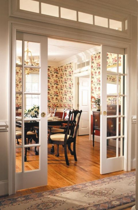 Elegant French glass pocket doors! glass pocket doors