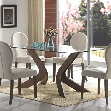 Beautiful GLASS TOP DINING TABLE, F/WLN,70.7x35x30 glass top dining room sets
