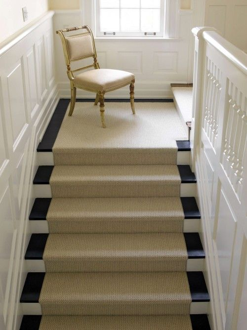 Ideas of Berber carpet runner... love! berber carpet stair runners