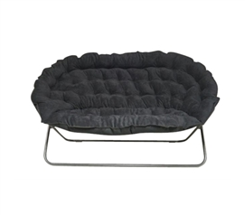 Ideas of Papasan Dorm Sofa - Black college dorm room furniture