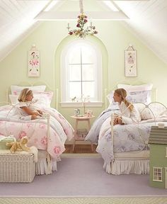 Ideas of Shabby Chic shabby chic girls bedroom