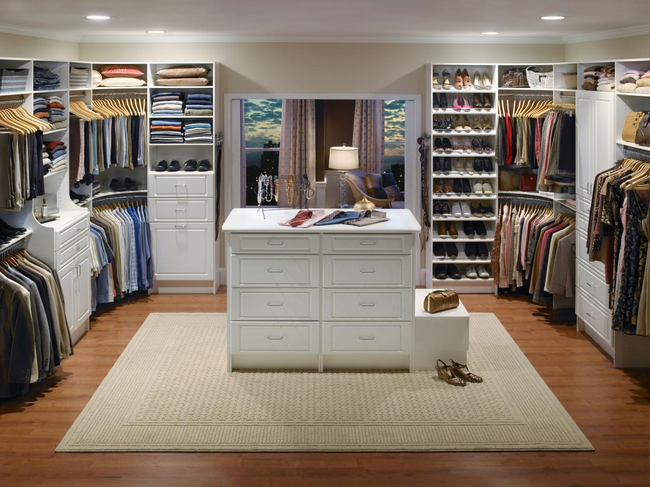 Images of Chic Contemporary master bedroom walk in closet ideas