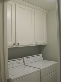 Images of DIY laundry room cabinets. This is the exact layout of my laundry room. laundry room wall cabinets