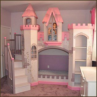 Images of Fun Themed Bunk Beds For Kids, Top Bunk Beds For Toddlers princess castle bedroom set