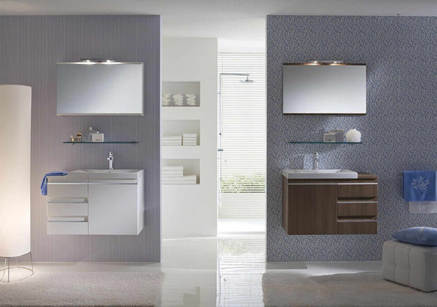 Images of Glass Shelf Idea on Fancy Small Bathroom Vanity Plus Floating Cabinet  Design small floating bathroom vanity