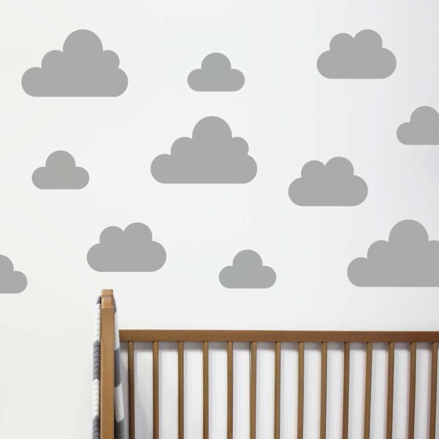 Images of Grey / Small cloud wall stickers