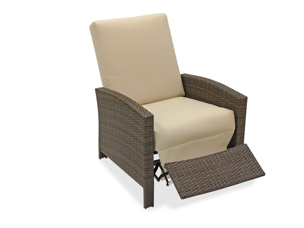 Images of Havana Aluminum u0026 Woven Resin Wicker Recliner reclining patio chair