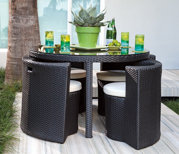 Images of Just because you have a small deck, doesnu0027t mean you canu0027t · Cozy outdoor furniture for small deck