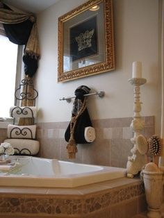 Images of Love the towel rack in the corner. Master Bath................... with an master bathroom decor ideas