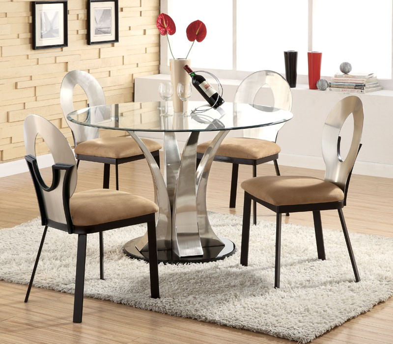 Images of Round Glass Dining Table 60 Round Glass Dining Tables Lovely In Brilliant Modern modern round dining table set