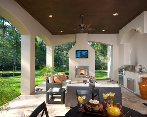 Images of SaveEmail covered patio with fireplace
