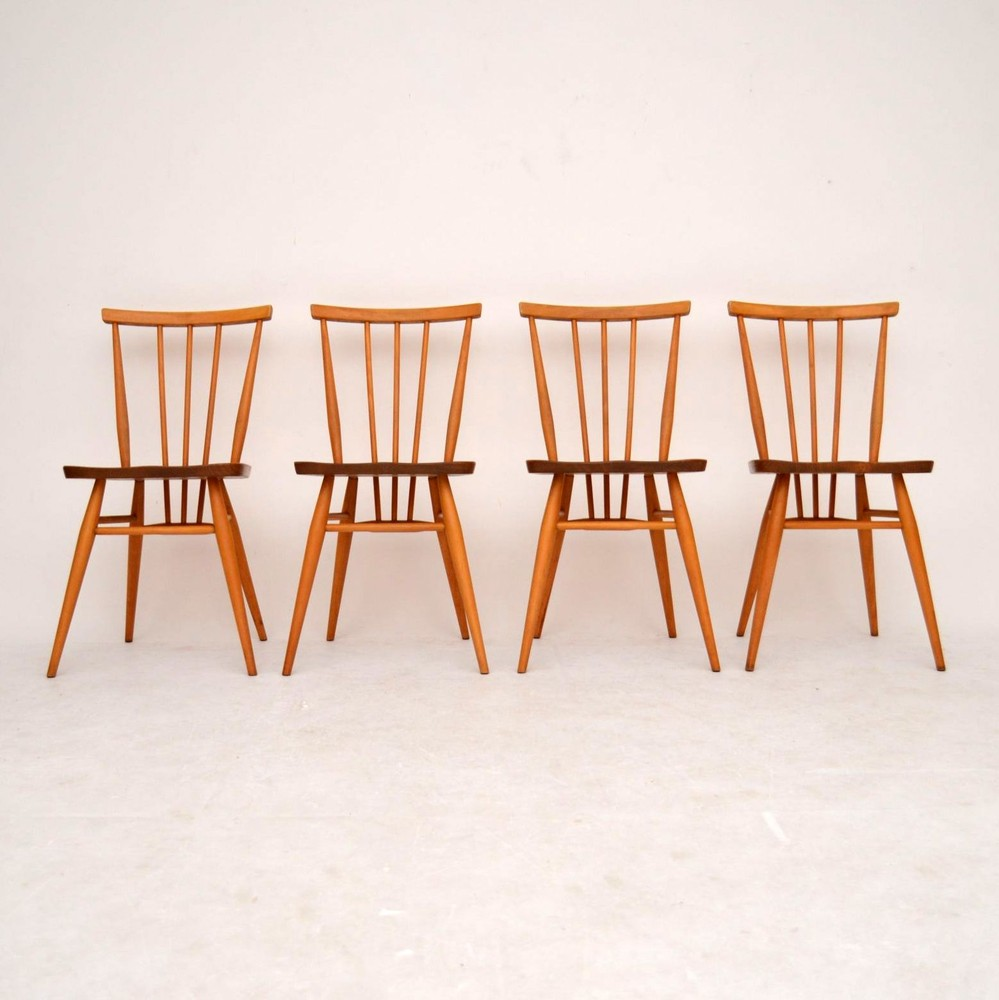 Images of Set of 4 Retro Solid Elm Dining Chairs by Ercol Vintage 1960u0027s vintage ercol dining chairs