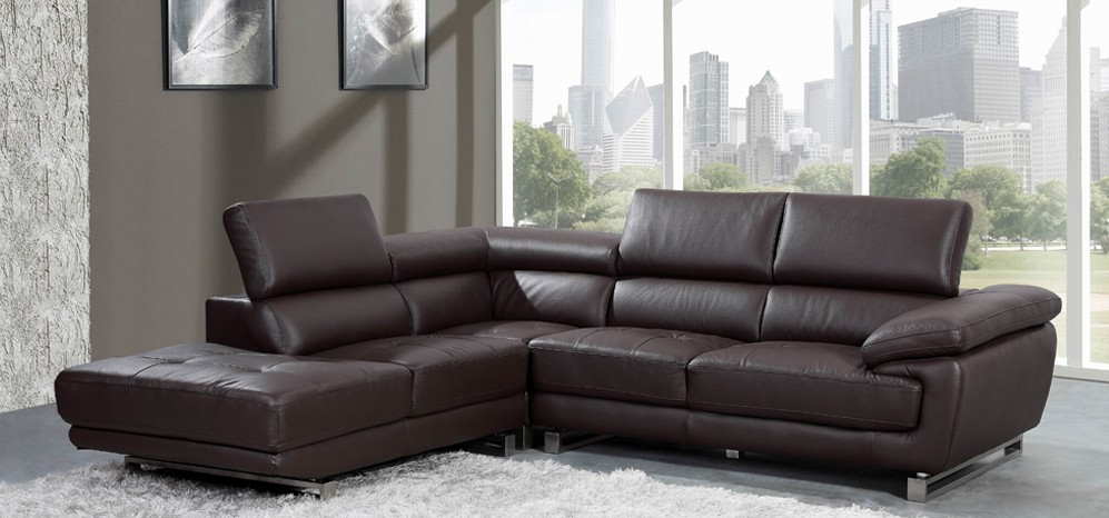 Images of Valencia Corner Espresso Brown H8586LHF corner leather sofa