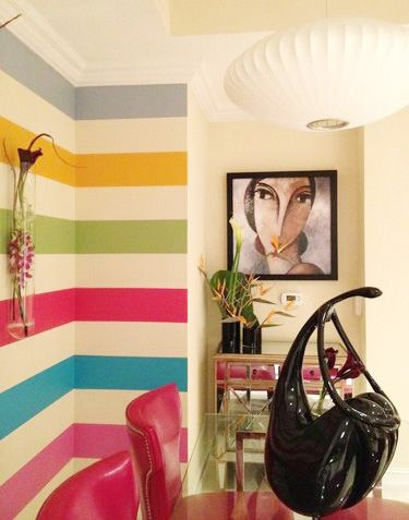 Amazing Great sample paint project!! Via Sweet Peach Blog interior wall paint design ideas