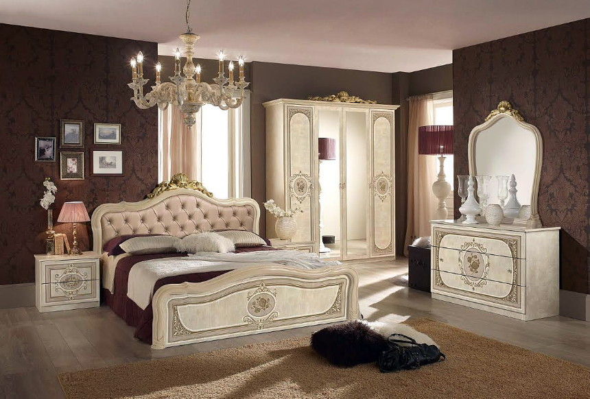 Elegant ... Alice ivory finish bedroom furniture from Italy italian bedroom furniture sets