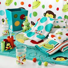 Luxury frog and monkey bath. Kid Bathroom DecorBathroom ... kids bathroom decor sets