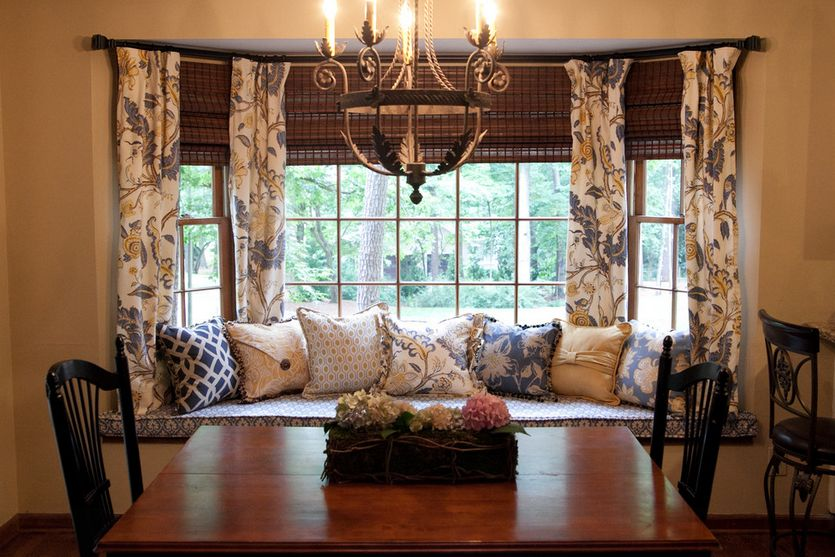 Cozy How To Solve The Curtain Problem When You Have Bay Windows kitchen bay window curtains