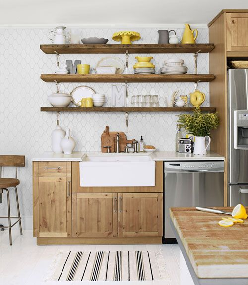 Cool 179 best images about Open Shelves on Pinterest | Dishes, Open kitchen kitchen open shelving ideas