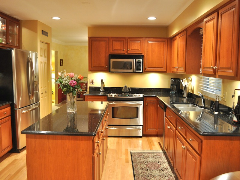Beautiful carol-g-after kitchen refacing before and after