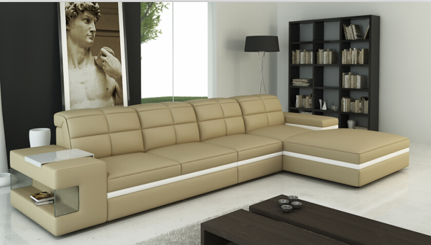 Master l shape sofa set designs Sectional sofa with genuine leather l shape sofa set
