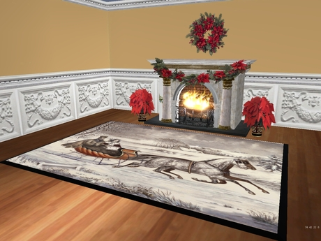 Best Second Life Marketplace Currier And Ives Christmas Rug 6 large christmas rugs