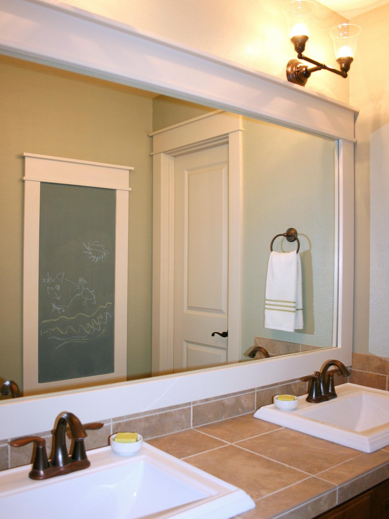 Modern How to Frame a Mirror large framed bathroom mirrors