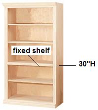 Luxury 30 unfinished solid wood bookcases