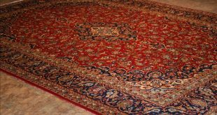 Luxury 656 Kashan rugs - This Traditional rug is approx imately 9 feet red persian rug