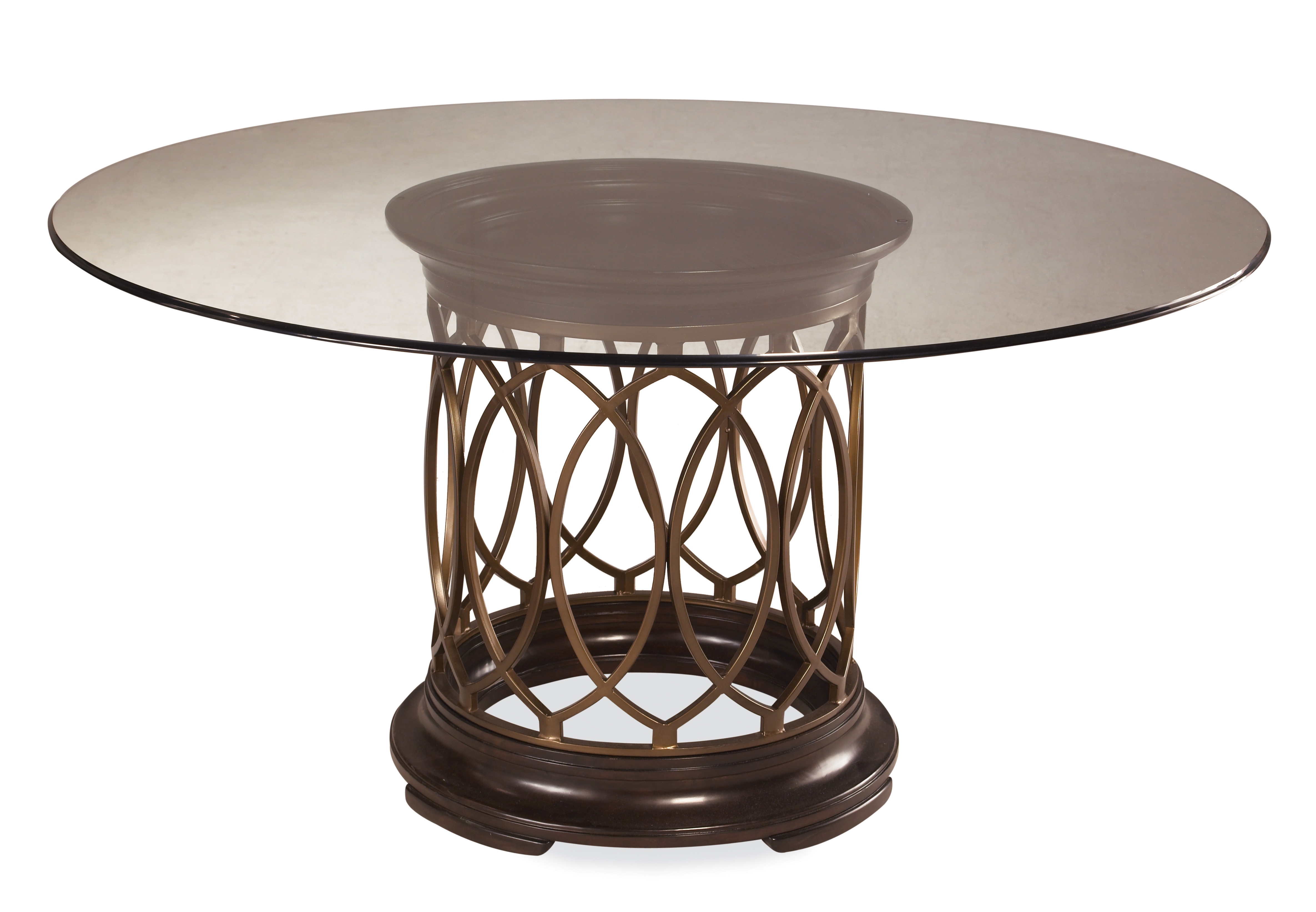 Luxury ART Intrigue Round Glass Top Dining Table round glass top dining table