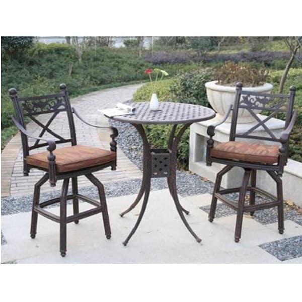 Luxury Attractive u0026 Comfortable Bar Height Patio Set Recalls Roman Designs ... bar height patio set