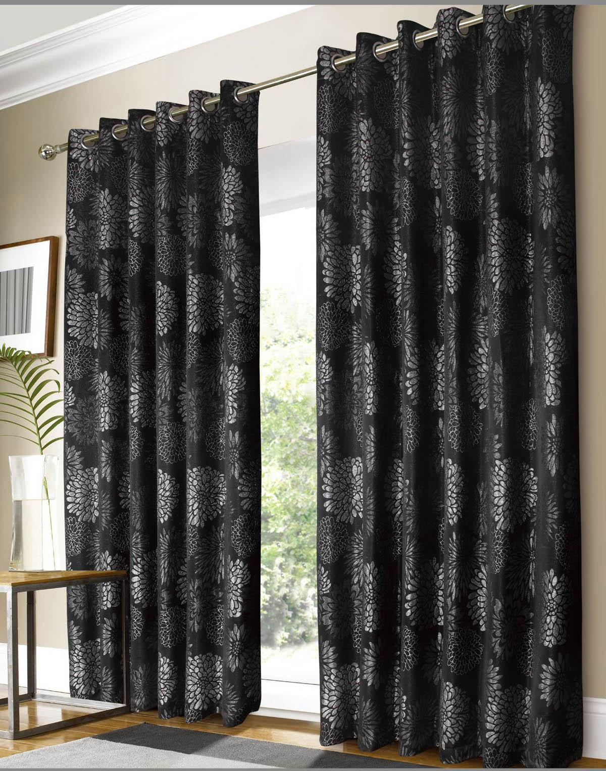 Luxury Black and Silver Curtains Images black and silver curtains