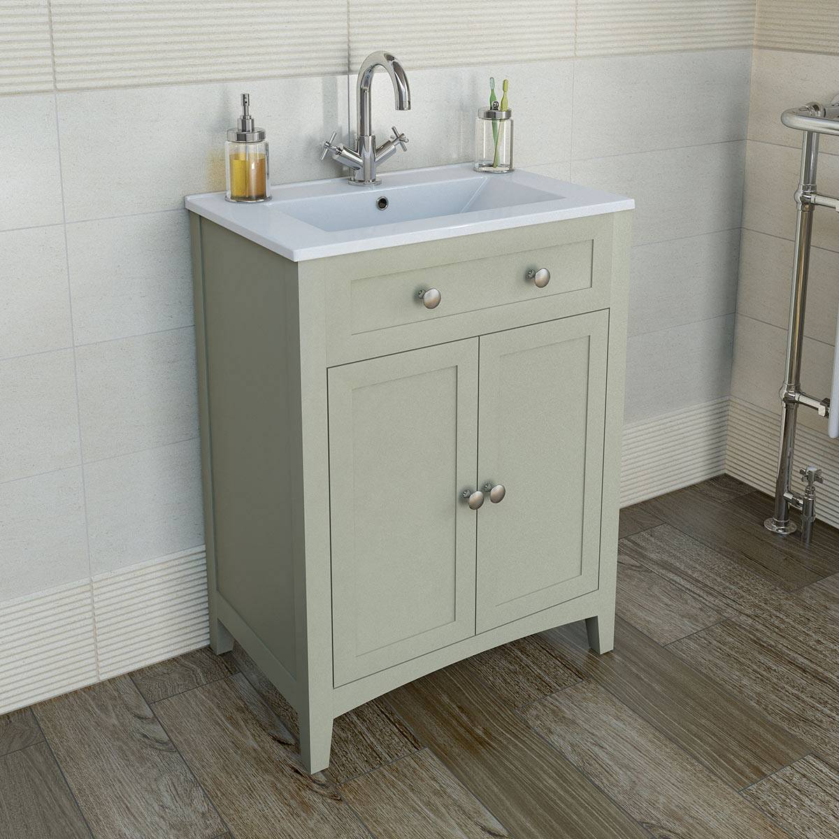 Luxury Camberley Sage 600 Door Unit u0026 Basin now only £299.99 from Victoria Plumb vanity unit with basin