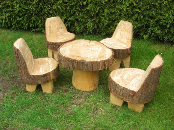 Luxury Childrenu0027s Garden Furniture Set- no need for legs on the chairs, just folding wooden garden furniture sets