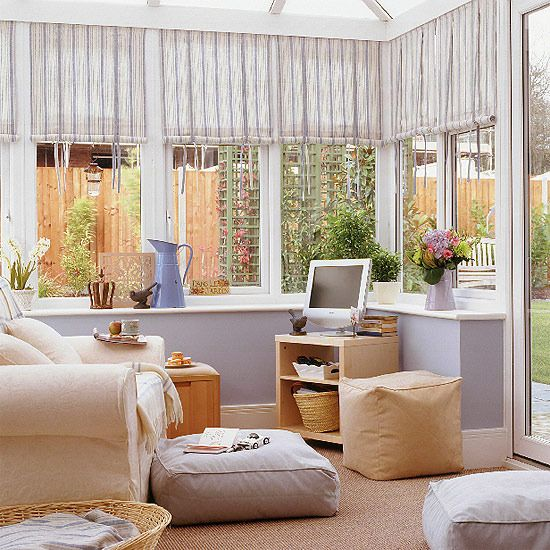 Luxury Cool conservatory The walls if this conservatory have been kept light and small conservatory furniture ideas