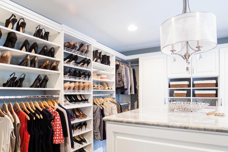 Luxury ... Custom Master Closet in McLean, ... custom walk in closets