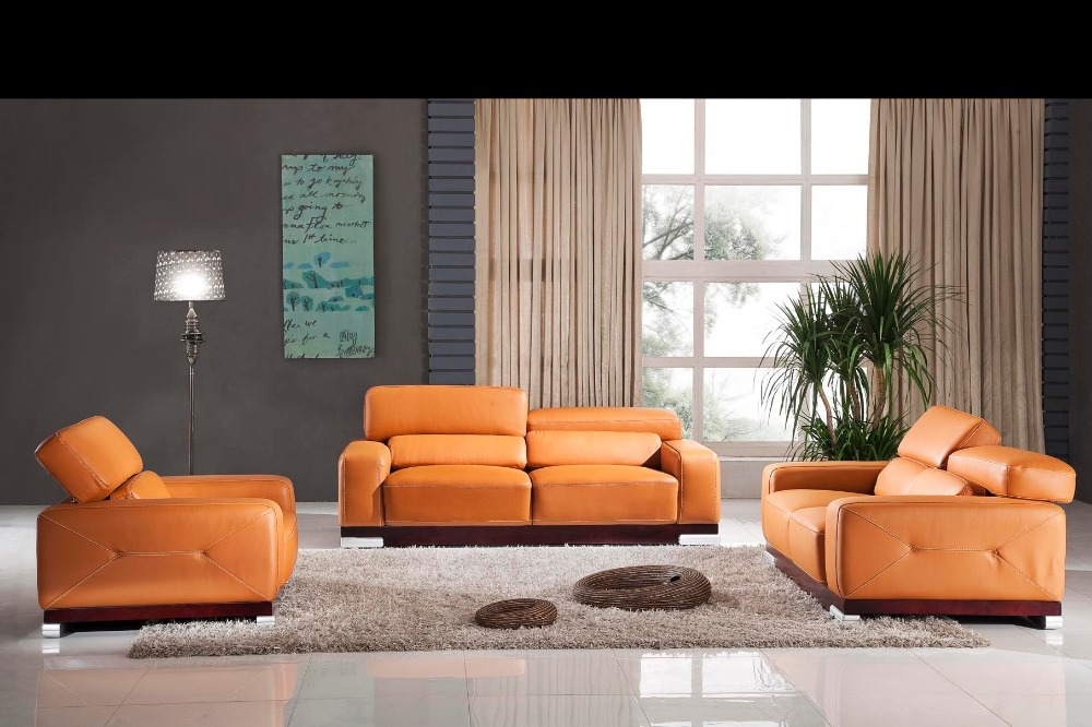 Luxury designer modern style top graded cow genuine leather corner living room sofa modern style sofa sets
