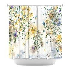 Luxury DiaNoche Designs - Aspen Grove Shower Curtain by Dawn Derman - Shower unique shower curtains