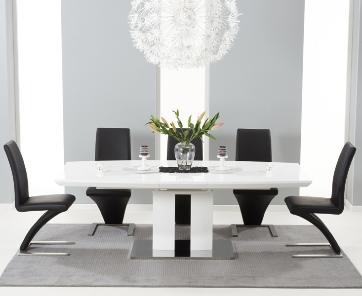 Luxury Fancy White Extending Dining Table And Chairs Buy The Richmond 180cm White white gloss dining table