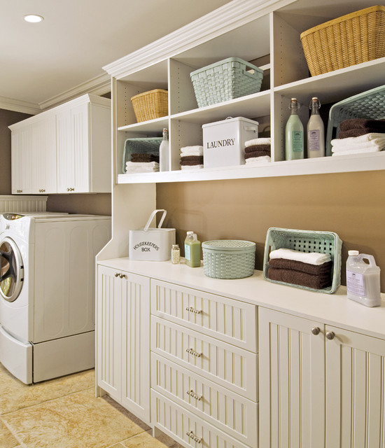Cabinets used in the laundry room