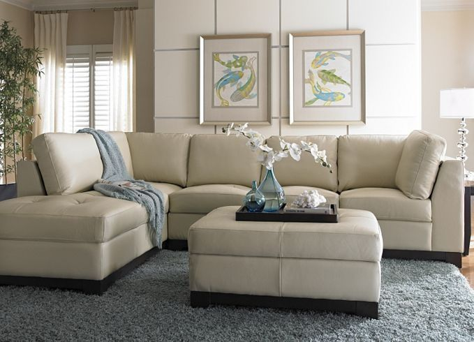 Luxury Living Room Furniture, Embrace Sectional, Living Room Furniture. This cream  leather sofa cream leather sofa decorating ideas