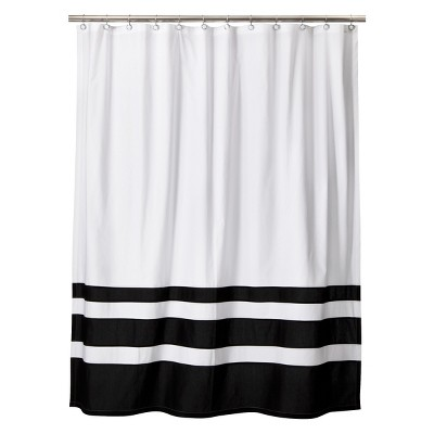 Luxury loved 399 times 399 black and white striped shower curtain